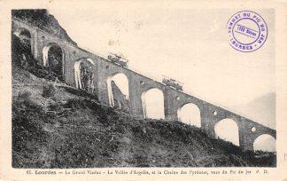 Ansichtkaart Frankrijk Lourdes Le Grand Viaduc met trein France 1936 Europa HC8536