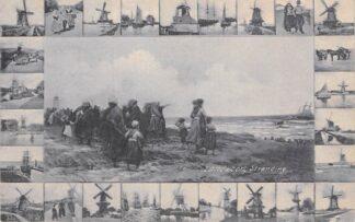 Ansichtkaart Zandvoort 1906 Stranding Molens Klederdracht HC8538