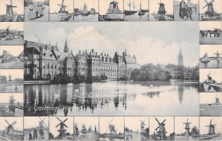 Ansichtkaart 's-Gravenhage 1906 Vijverberg Molens HC8539