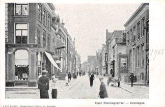 Ansichtkaart Groningen Oude Boteringestraat Winkel fotograaf Wieringa 1905 HC8566