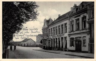 Ansichtkaart Groningen Hotel Frascati Garage bij het Hoofdstation Spoorwegen Station HC8579