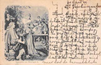 Ansichtkaart Fantasie Trompeter von Sakkingen 3 Uitg. N.J. Boon Amsterdam 1899 HC8611