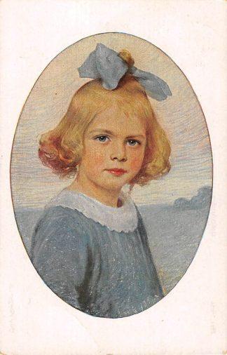 Ansichtkaart Fantasie Goldkopfchen 1924 Illustrator Max Arenz Duitsland Deutschland Europa HC8643