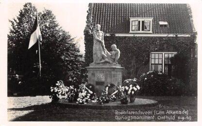Ansichtkaart Roelofarendsveen Gem. Alkemade Oorlogs monument Onthuld 6-9-49 HC8650