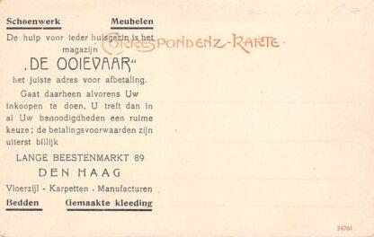Ansichtkaart Den Haag Reclame Magazijn De Ooievaar Schoenwerk en meubelen Lange Beestenmarkt 89 Voorzijde Partie aus dere Burserschlucht bei Bludenz 1904 Duitsland Deutschland Europa HC8658