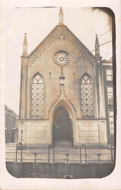 Ansichtkaart Gouda Fotokaart Sint Joostkapel Lutherse Kerk Hoek Lage Gouwe - Lange Groenendaal HC8671