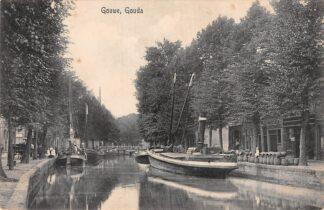 Ansichtkaart Gouda Gouwe Sleepboot Binnenvaart schepen 1919 Gompers 18557 HC8691
