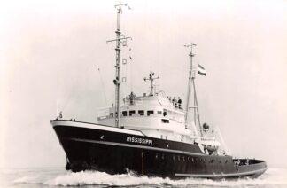 Ansichtkaart Rotterdam m.t. Mississippi Zee sleepboot L. Smit & Coç Internationale Sleepdienst Schepen Scheepvaart HC8693
