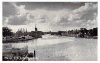 Ansichtkaart Alphen aan den Rijn Rijngezicht met molen HC8723