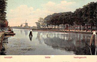 Ansichtkaart Weesp Vechtgezicht met molens 1911 HC8740