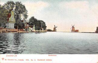 Ansichtkaart Zaandam Gortershoek met molens 1905 HC8751