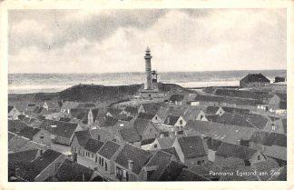 Ansichtkaart Egmond aan Zee Panorama met vuurtoren 1949 HC8763