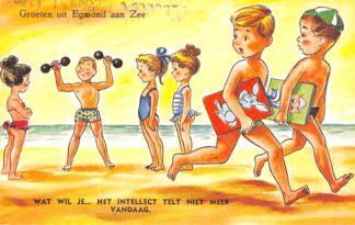 Ansichtkaart Egmond aan Zee Groeten uit 1962 Humor HC8764