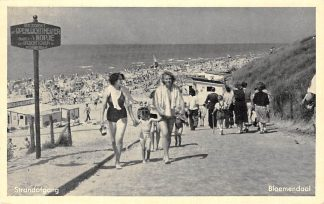 Ansichtkaart Bloemendaal Strand afgang Zee en strand HC8770