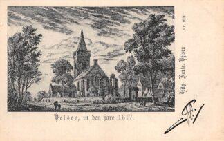 Ansichtkaart Velsen in den jare 1617 Uitg. Nauta Nr. 1621 HC8778