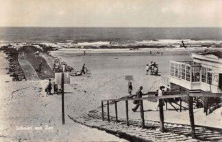 Ansichtkaart Schoorl aan Zee Strand en Restaurant 1957 HC8783