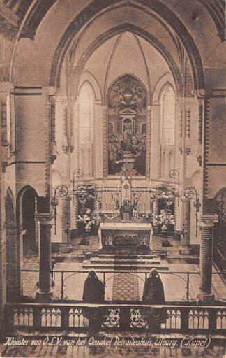 Ansichtkaart Tilburg Klooster van O.L.V. van het Cenakel Retraitehuis Kapel 1923 HC8805