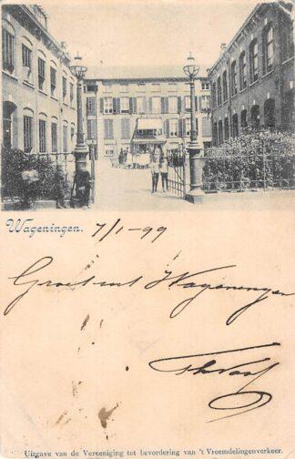 Ansichtkaart Wageningen 1899 Kleinrond stempel Boxmeer HC8816