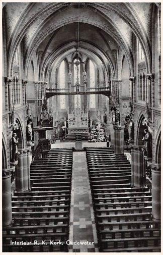 Ansichtkaart Oudewater Interieur R.K. Kerk 1951 HC8817