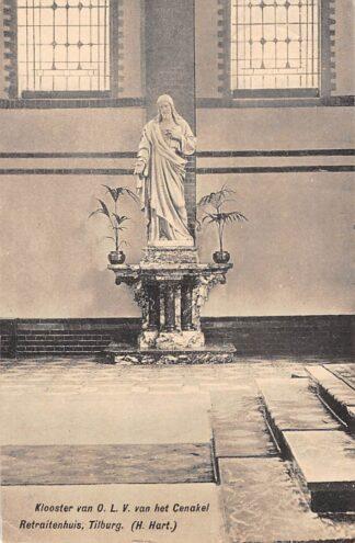 Ansichtkaart Tilburg H. Hart Klooster van O.L.V. van het Cenakel Retraitenhuis 1923 HC8818