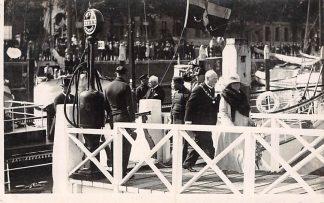 Ansichtkaart Rotterdam Fotokaart 10 sep. 1928 Bezoek Koninklijke familie Tocht door de haven Koningshuis Binnenvaart schepen Scheepvaart HC8823