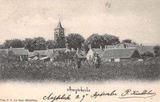 Ansichtkaart Aagtekerke Gezicht op het dorp Kleinrond stempel 1903 HC8831
