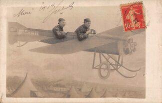 Ansichtkaart Frankrijk Fotokaart Vliegtuig Militair WO-1 1914-1918 Luchtvaart France Europa HC8841