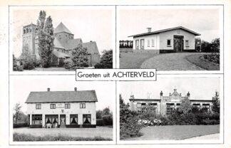 Ansichtkaart Achterveld (UT) Groeten uit 1957 Vierluik HC8844