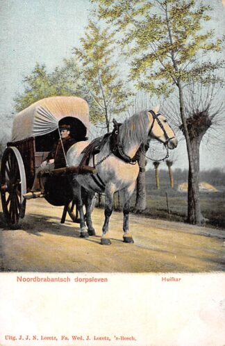 Ansichtkaart Noord-Brabant Dorpsleven Den Dungen Huifkar Janus Smits en de Hooidonk HC8861