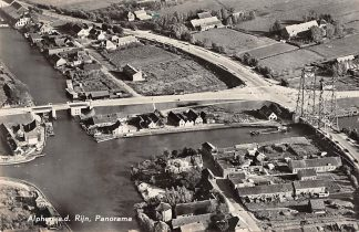 Ansichtkaart Alphen aan den Rijn Panorama Gouwe Rijn en Hefbrug KLM Luchtfoto 19501 1955 HC8875