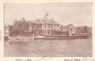 Ansichtkaart Alphen aan den Rijn Hotel St. Joris 1902 Binnenvaart schepen Scheepvaart HC8884