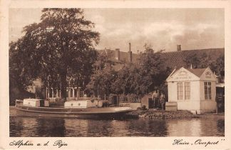 Ansichtkaart Alphen aan den Rijn Huize Overpost 1923 Binnenvaart schepen Scheepvaart HC8887