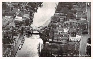 Ansichtkaart Alphen aan den Rijn KLM Luchtfoto Centrum 1952 HC8890