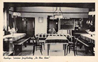 Ansichtkaart Appelscha Interieur Jeugdherberg Us Blau Hiem 1942 HC8904