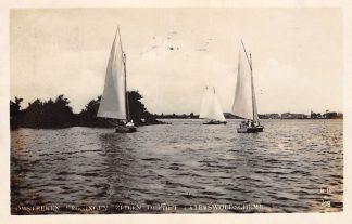 Ansichtkaart Paterswolde Omstreken Groningen Zeilen op het Paterswoldsche Meer 1930 HC8908