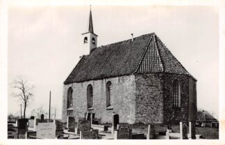 Ansichtkaart Lettelbert Leek Ned. Hervormde Kerk met begraafplaats 1963 HC8909