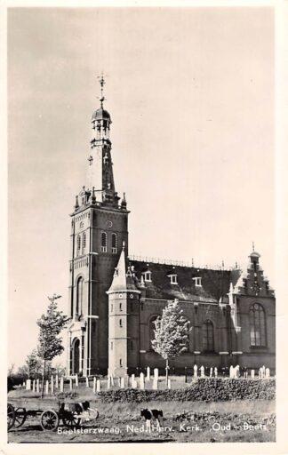 Ansichtkaart Beetsterzwaag Ned. Hervormde Kerk Oud-Beets 1954 Begraafplaats HC8923