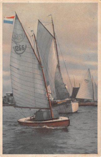 Ansichtkaart Dokkum Reclame Fa. A.J. Schaaf Papier en luxe papierwaren Zeilen HC8925