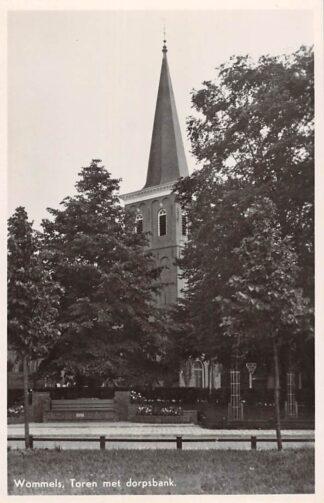 Ansichtkaart Wommels Toren met dorpsbank 1946 HC8927