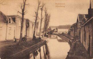 Ansichtkaart Rijnsburg Moleneind 1932 HC8931