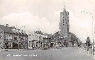 Ansichtkaart Elst (GD) Dorpstraat met N.H. Kerk HC8949