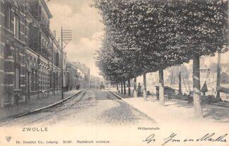 Ansichtkaart Zwolle Willemskade Binnenvaart schepen Scheepvaart 1903 HC8972