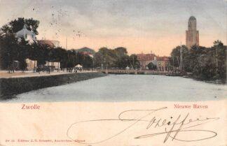 Ansichtkaart Zwolle Nieuwe Haven 1902 HC8980