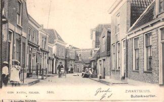 Ansichtkaart Zwartsluis Buitenkwartier Kleinrond stempel Zwartsluis 1905 Filatelie Postzegels HC8982