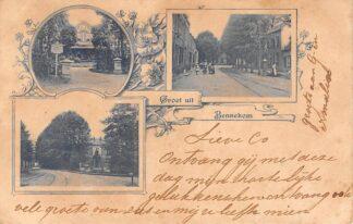 Ansichtkaart Bennekom Groet uit 1900 Litho HC8985