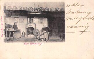 Ansichtkaart Ede Ede's Binnenhuisje 1901 Klederdracht HC8989