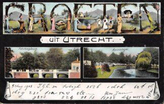 Ansichtkaart Groeten uit Utrecht 1905 HC8996