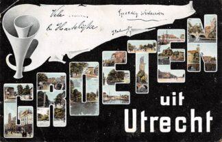 Ansichtkaart Groeten uit Utrecht in 1905 HC8997