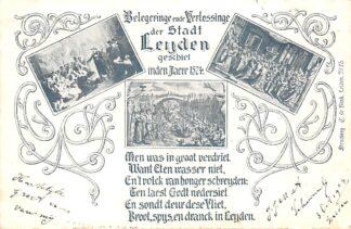 Ansichtkaart Leiden 1904 Belegeringe en Verlossinge der Stadt Leijden in 1574 HC9001