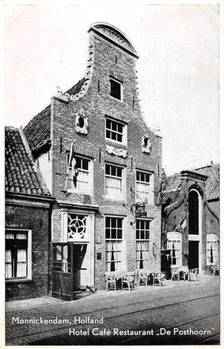 Ansichtkaart Monnickendam Reclame Hotel Café Restaurant De Posthoorn HC9019